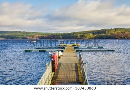 Kielder Water Reservoir, Northumberland, England - stock photo