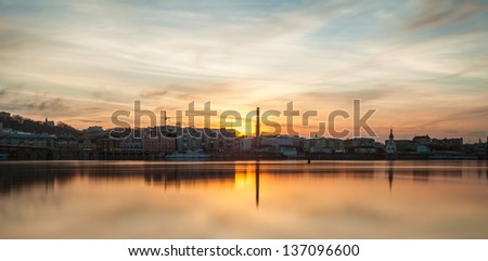 Kiev city at dawn - stock photo