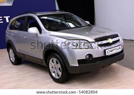 "KIEV - MAY 27: Annual automotive-show ""SIA 2010"". May 27, 2010 in Kiev, Ukraine. Chevrolet Captiva - stock photo"