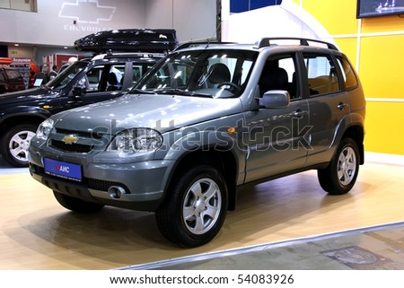 "KIEV - MAY 27: Annual automotive-show ""SIA 2010"". May 27, 2010 in Kiev, Ukraine. Chevrolet Niva"