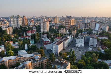 Kiev panorama day from the roof