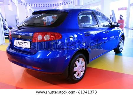 "KIEV - SEPTEMBER 10: Chevrolet Lacetti at  Yearly automotive-show ""Capital auto show 2010"". September 10, 2010 in Kiev, Ukraine. - stock photo"