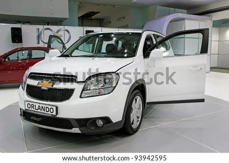 "KIEV - SEPTEMBER 10: Chevrolet Orlando at yearly automotive-show ""Capital auto show 2011"". September 10, 2011 in Kiev, Ukraine. - stock photo"