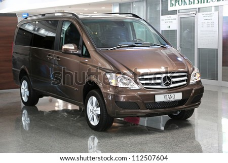 "KIEV - SEPTEMBER 7: Mercedes-Benz Viano (V-Class) at yearly automotive-show ""Capital auto show 2012"". September 7, 2012 in Kiev, Ukraine - stock photo"