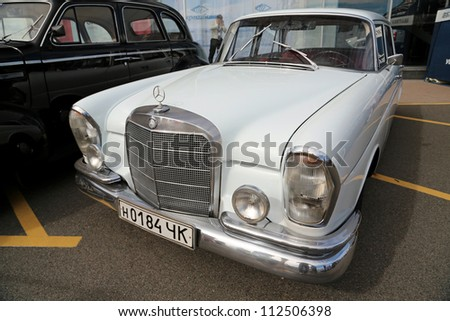 "KIEV - SEPTEMBER 7: Old Mercedes-Benz at yearly automotive-show ""Capital auto show 2012"". September 7, 2012 in Kiev, Ukraine"