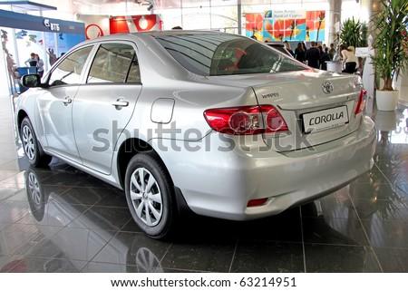 "KIEV - SEPTEMBER 10:Toyota Corolla at Yearly automotive-show ""Capital auto show 2010"". September 10, 2010 in Kiev, Ukraine. - stock photo"