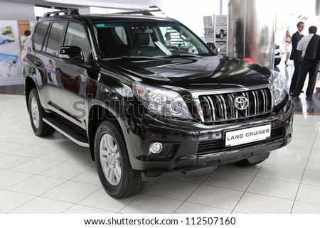 "KIEV - SEPTEMBER 7: Toyota Land Cruiser at yearly automotive-show ""Capital auto show 2012"". September 7, 2012 in Kiev, Ukraine"