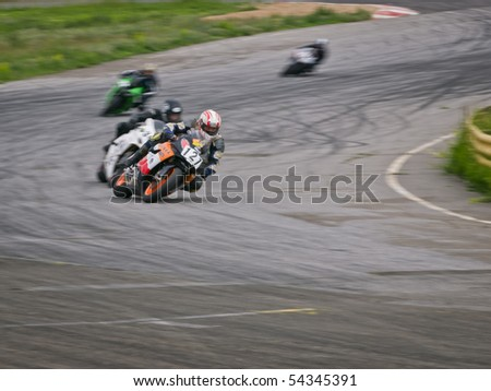KIEV, UA - MAY 29: First Race of Ukrainian Superbike and Superstock Championship on Chaika motordrome May 29, 2010 in Kiev, Ukraine