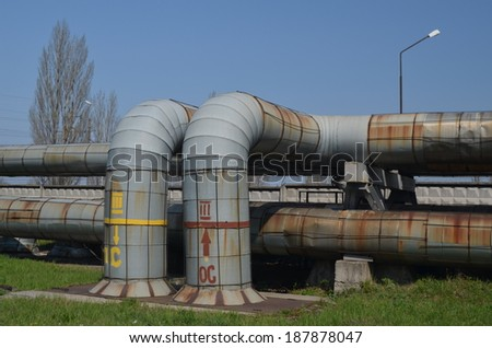 KIEV, UKRAINE -APR 18, 2014: Industrial area.Power plant .April 18, 2014 Kiev, Ukraine