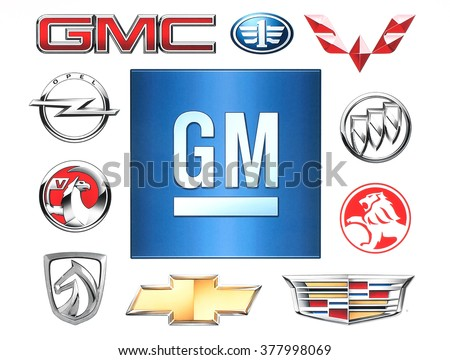 Kiev ukraine february 1 2016 brands general stock photo for General motors dealers near me