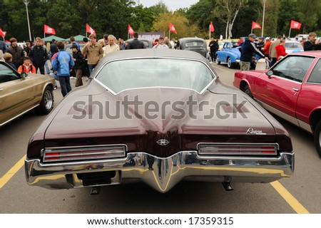 KIEV, UKRAINE - SEPTEMBER 12: Exhibition of retro cars within the bounds of Auto Show 2008 that took place September 12-14, 2008 in Kiev, Ukraine