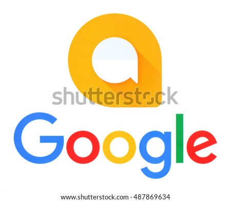 Kiev, Ukraine - September 21, 2016: Google and Allo logos printed on white paper. Allo is an instant messaging mobile app developed by Google