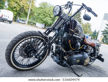 Kiev, Ukraine- September 22, 2016: Stylish Motorcycle