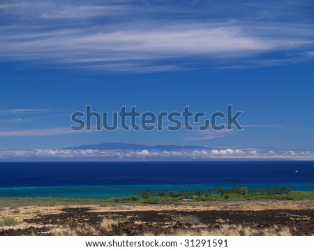 Kiholo Bay Scenic Overlook at Big Island, Hawaii - stock photo