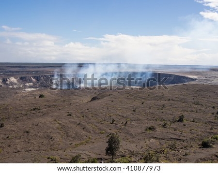 Kilauea is a currently active shield volcano in the Hawaiian Islands, and the most active of the five volcanoes that together form the island of Hawaii.