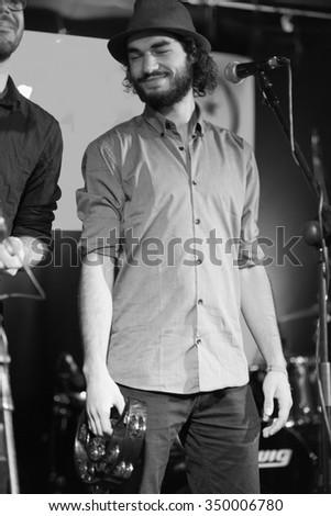 Killarney,Ireland,July 26th,Gerry Paul and the Elephant Tree Band  perform live at Folkfest,INEC,Killarney,County Kerry on July 26th 2015 in Killarney,Ireland - stock photo