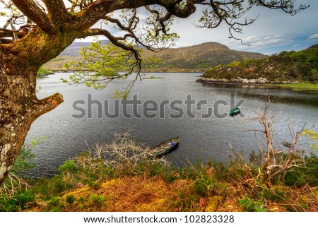 Killarney scenery of mountains and lakes, Ireland