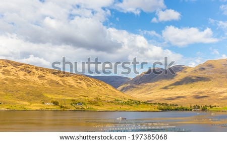 Killary Harbour and Maumturks in Connacht - stock photo