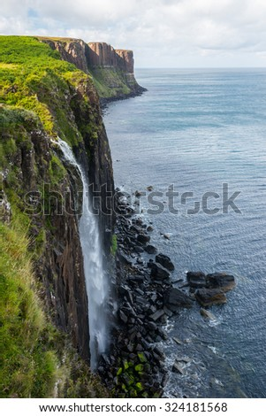 Kilt Rock, Skye, Scotland - stock photo