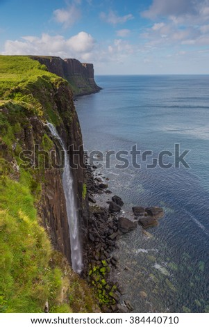 Kilt Rock waterfall in the isle of Skye, Scotland