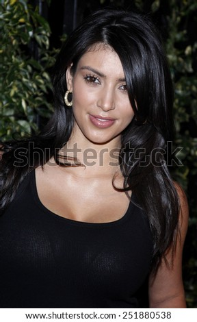 Kim Kardashian arrives to the opening of Beso Restaurant held at the Beso in Hollywood, California, United States on March 6, 2008. Copyright 2008 by Adam Gold/iPhoto - stock photo