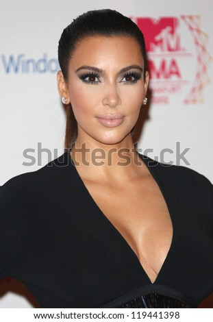 Kim Kardashian arriving for the The MTV EMA's 2012 held at Festhalle, Frankfurt, Germany. 11/11/2012 Picture by: Henry Harris - stock photo