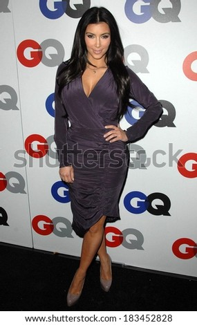 Kim Kardashian at Gentleman's Quarterly GQ Men of the Year Event, Chateau Marmont, Los Angeles, CA November 18, 2009  - stock photo
