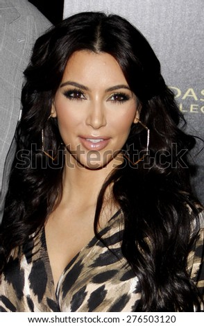 Kim Kardashian at the Kardashian Kollection Launch Party held at the Colony in Los Angeles, California, United States on August 17, 2011.  - stock photo