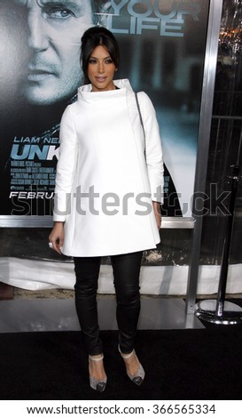 "Kim Kardashian at the Los Angeles Premiere of ""Unknown"" held at the Regency Village Theater in Los Angeles, California, United States on February 16, 2011."