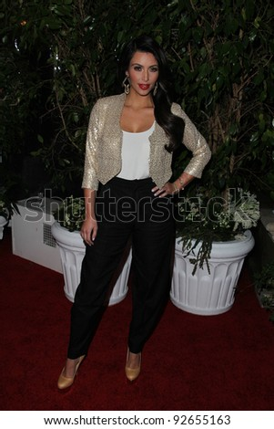Kim Kardashian at the QVC Red Carpet Style Party, Four Seasons Hotel, Los Angeles, CA. 02-25-11