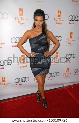 Kim Kardashian at The Trevor Project's 12th Annual Cracked Christmas, Wiltern Theater, Los Angeles, CA. 12-06-09