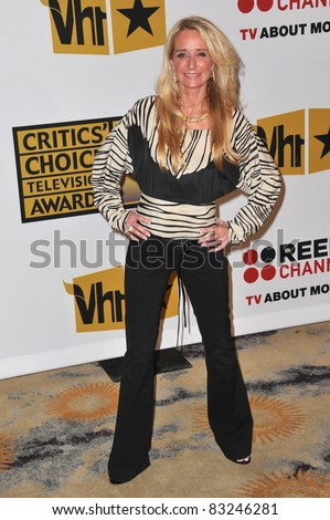 Kim Richards at the inaugural Critics' Choice Television Awards, by the Broadcast Television Journalists Association, at the Beverly Hills Hotel. June 20, 2011, CA Picture: Paul Smith / Featureflash - stock photo