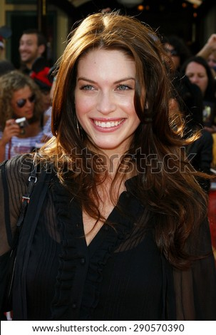"""Kim Smith attends the World Premiere of """"Pirates of the Caribbean: At World's End"""" held at Disneyland in Anaheim, California on May 19, 2007.  - stock photo"""