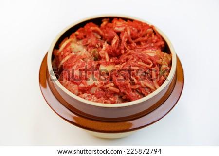 Kimchi/korean traditional food - stock photo