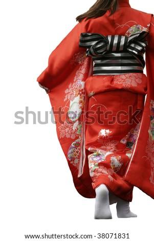 Kimono Fashion Model - stock photo