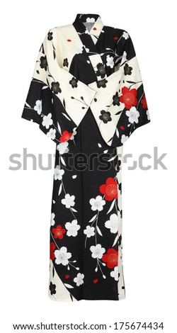 kimono isolated on white background - stock photo