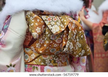 Kimono obi belt - stock photo