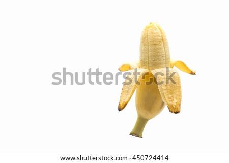 kind of banana isolated on white background - stock photo