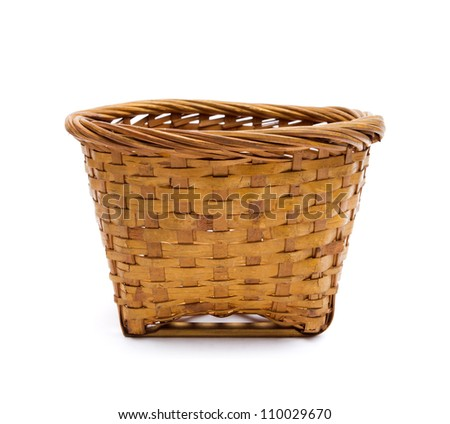 Kind of Chinese sweetmeat steamed in a basket on white background