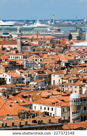 Kind to Venice from above, Italy - stock photo