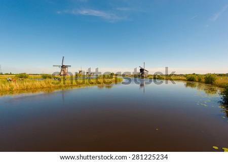 Kinderdijk Netherlands(Holland) - stock photo