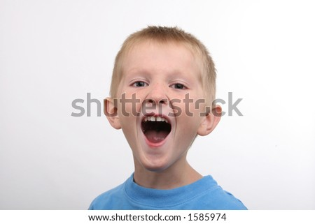 kindergarten boy laughing
