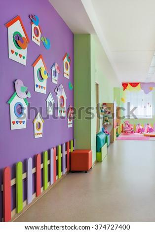 Kindergarten, lobby. - stock photo