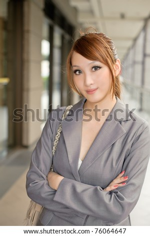 detail photo standing asian woman checking phone messages royalty free image