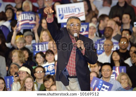 King County Executive Ron Sims at Hillary Clinton Rally for Presidential Campaign