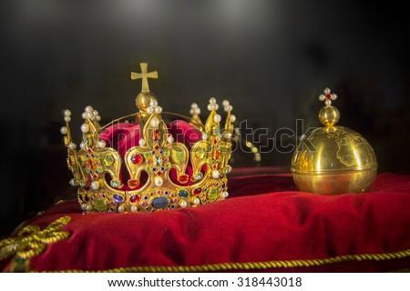 king crown jewels - stock photo