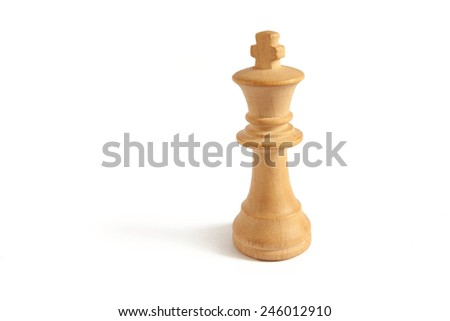 king from white set (chess) in white background - stock photo