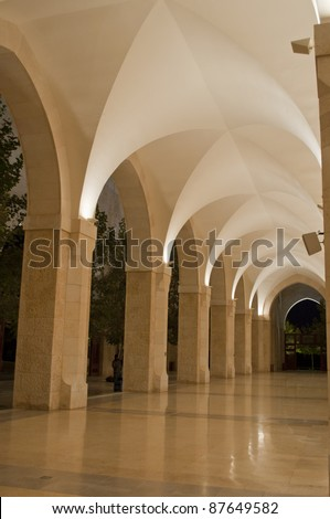 King Hussein mosque hall