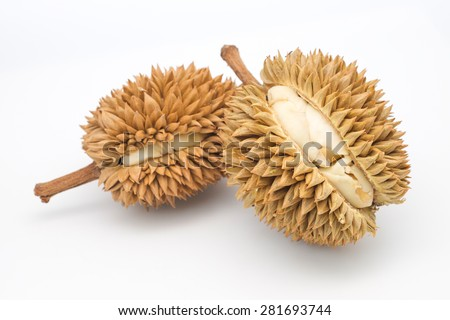 King of fruits, delicious durian isolated on white background  - stock photo