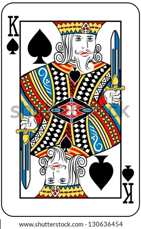 King of Spades playing card - stock photo